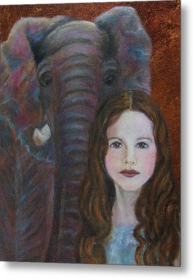Darra  Little Angel Of                                    Feminine Wisdom And Understanding Metal Print by The Art With A Heart By Charlotte Phillips