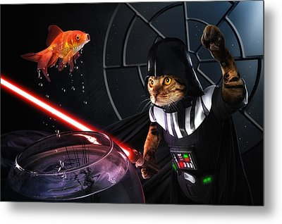 Darth Sushi Metal Print