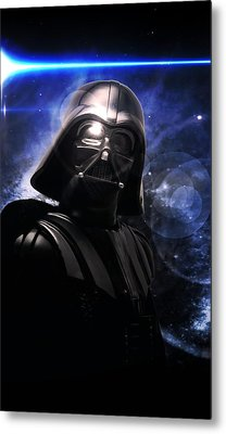 Metal Print featuring the photograph Darth Vader by Aaron Berg
