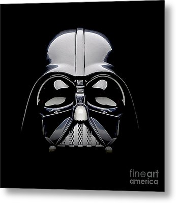 Darth Vader Helmet Metal Print by Jon Neidert