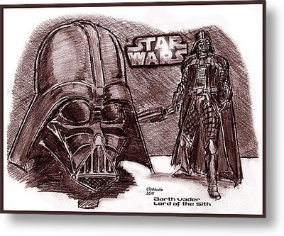 Darth Vader Lord Of The Sith Metal Print by Chris  DelVecchio