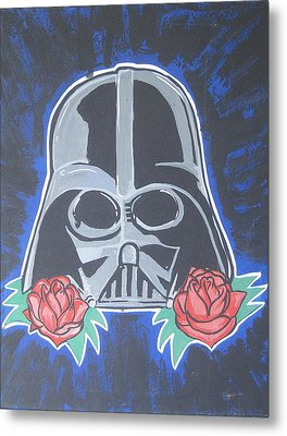 Darth Vader Tattoo Art Metal Print by Gary Niles