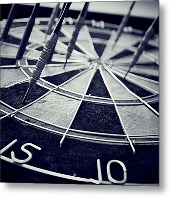 Darts Anyone Metal Print by Trish Mistric
