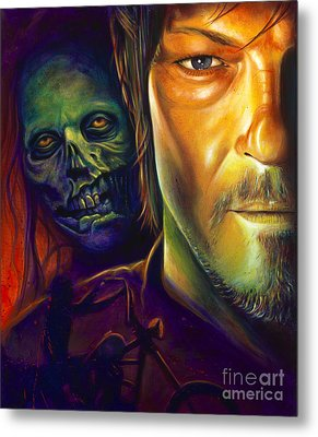 Daryl Dixon Metal Print by Scott Spillman