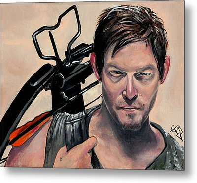 Daryl Dixon Metal Print by Tom Carlton