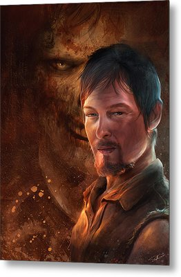 Metal Print featuring the digital art Daryl by Steve Goad