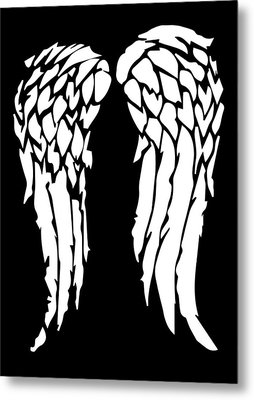 Daryl's Wings Metal Print