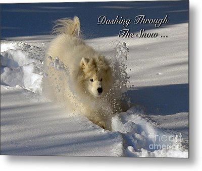 Dashing Through The Snow Metal Print by Lois Bryan