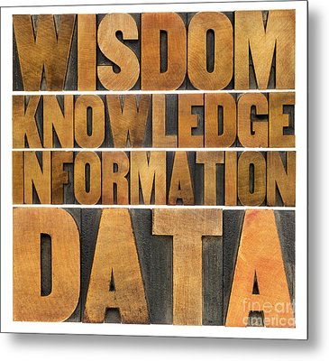 Metal Print featuring the photograph Data Information Knowledge And Wisdom by Marek Uliasz