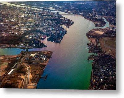 Daugawa River. Riga. Latvia. Rainbow Earth Metal Print