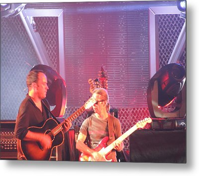 Metal Print featuring the photograph Dave And Tim Jam On The Guitar by Aaron Martens