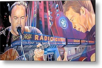 Dave Matthews And Tim Reynolds At Radio City Metal Print by Joshua Morton