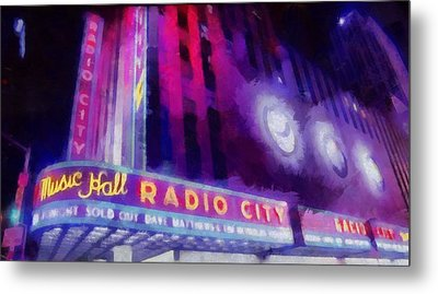 Dave Matthews At Radio City Music Hall Metal Print by Dan Sproul