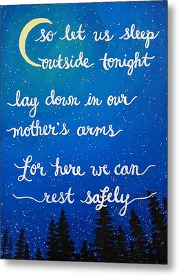 Dave Matthews Band Song Art So Let Us Sleep Outside Tonight Metal Print by Michelle Eshleman