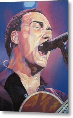 Dave Matthews Colorful Full Band Series Metal Print by Joshua Morton