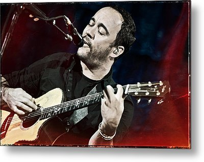 Dave Matthews Live At Farm Aid  Metal Print by Jennifer Rondinelli Reilly - Fine Art Photography