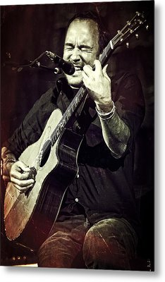 Dave Matthews On Acoustic Guitar 2 Metal Print by Jennifer Rondinelli Reilly - Fine Art Photography