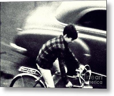Dave On A Bike Metal Print by Patricia Strand