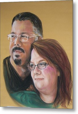 David And Laura Metal Print