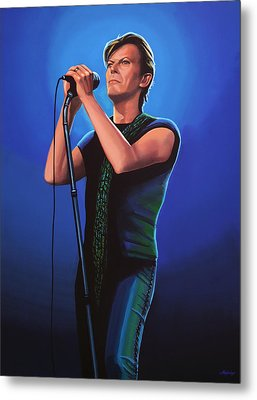 David Bowie 2 Painting Metal Print by Paul Meijering