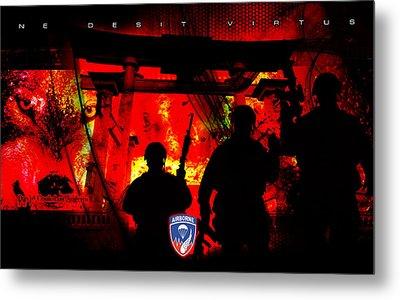 David Cook Los Angeles 187th Regiment Rakkasan Ne Desit Virtus Artwork Metal Print by David Cook Los Angeles