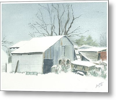 Metal Print featuring the painting David Hoyles Shed by Joel Deutsch