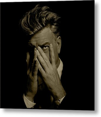 David Lynch Hands Metal Print by YoPedro