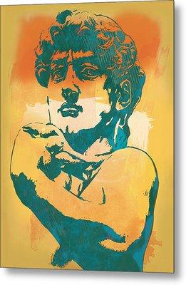 David - Michelangelo - Stylised Modern Pop Art Poster Metal Print by Kim Wang