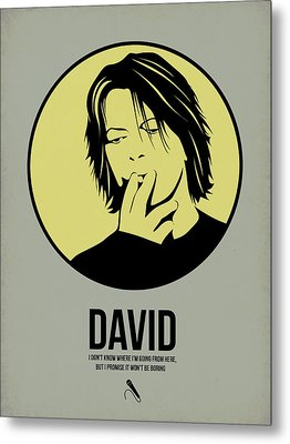 David Poster 4 Metal Print by Naxart Studio