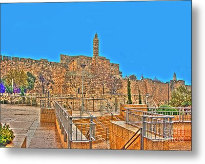 Metal Print featuring the photograph Davids Citadel - Israel by Doc Braham