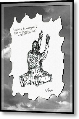 David's Prayer - Sketch Metal Print