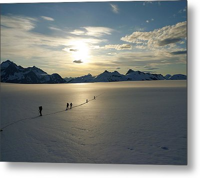 Davidson Glacier - Chilkat Range Metal Print by Ryan Fell