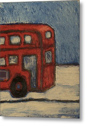 Metal Print featuring the painting Davis Unitran Bus by Clarence Major