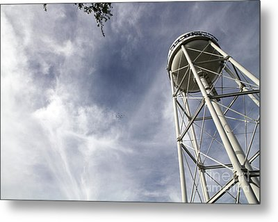 Davis Water Tower Metal Print by Juan Romagosa