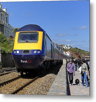 Dawlish Sea Front Metal Print by Craig Yates