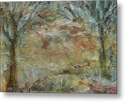 Metal Print featuring the painting Dawn 2 by Mary Wolf