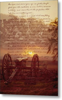 Dawn At Gettysburg Metal Print by Gary Grayson