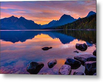 Dawn At Lake Mcdonald Metal Print by Adam Mateo Fierro