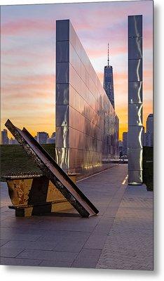 Dawn At The Empty Sky Memorial Metal Print by Susan Candelario