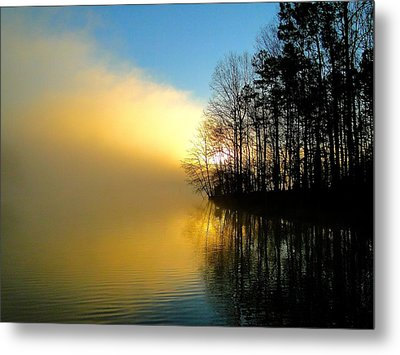 Dawn At Waters Edge Metal Print