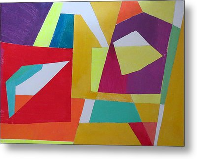 Abstract Angles Vii Metal Print by Diane Fine