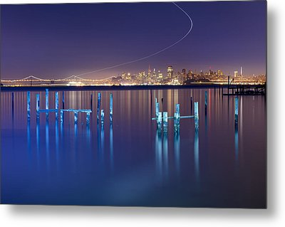 Dawn Colors - Sausalito Metal Print by David Yu