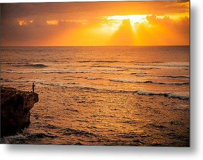 Dawn Fisherman Metal Print