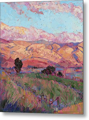 Dawn Hills - Left Panel Metal Print by Erin Hanson