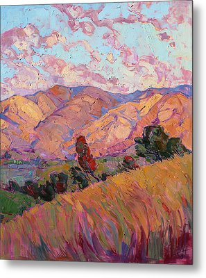 Dawn Hills - Right Panel Metal Print by Erin Hanson