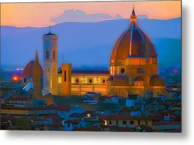 Dawn In Florence Metal Print