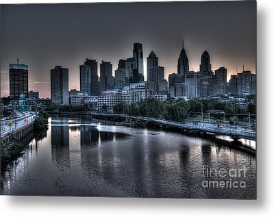 Dawn In Philly Metal Print by Mark Ayzenberg