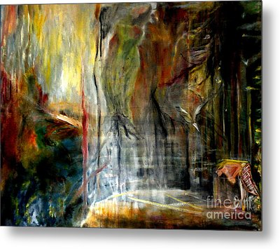Dawn In The Rocks Metal Print
