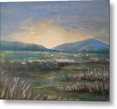 Metal Print featuring the painting Dawn by Jane  See