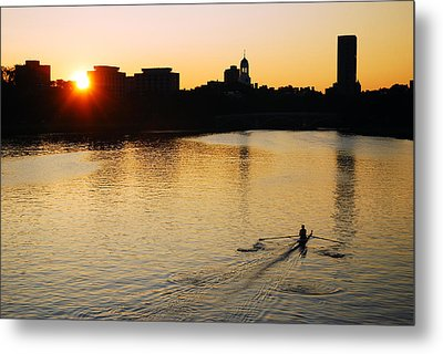 Metal Print featuring the photograph Dawn On The Charles by James Kirkikis